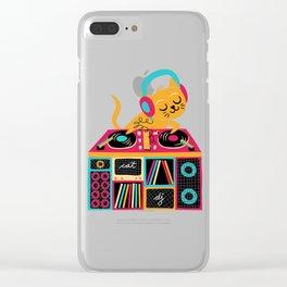 Cat DJ Clear iPhone Case