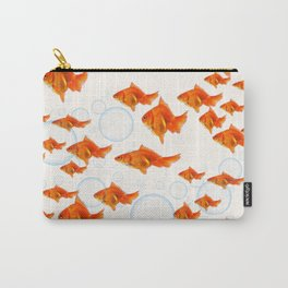 ABSTRACT GOLD FISH SWIMMING ART  DESIGN Carry-All Pouch