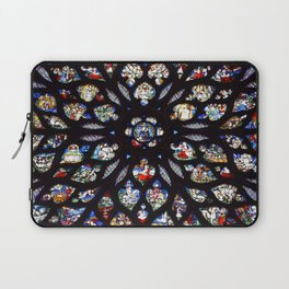 Stained glass sainte chapelle gothic Laptop Sleeve