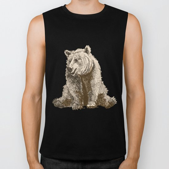 The lazy bear Biker Tank