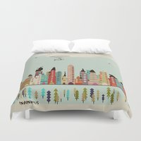 indiana Duvet Covers featuring visit Indianapolis Indiana by bri.buckley