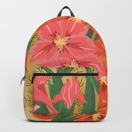 Bouquet of pink and red gladioluses Backpack