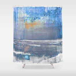 Blue Color Patches Shower Curtain