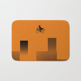 Witch on a Bicycle Bath Mat