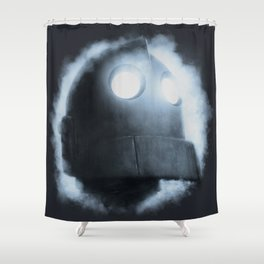 The Iron Giant Rises Shower Curtain