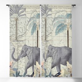 The Journey of the Elephant Blackout Curtain