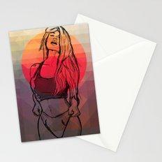 Geometric Sexy Girl Sketch Stationery Cards