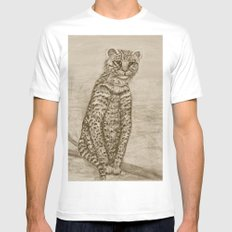 Ocelot Watching, by Ave Hurley Mens Fitted Tee White MEDIUM