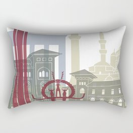 Ankara skyline poster Rectangular Pillow