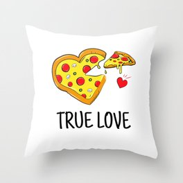 True Pizza Love Throw Pillow