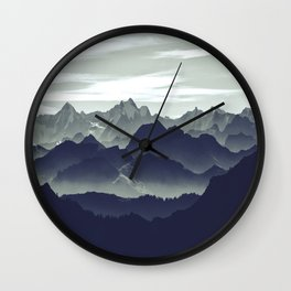Mountains are calling for us Wall Clock