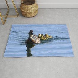 Mallard Duck Family Rug