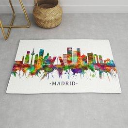 Madrid Spain Skyline Rug