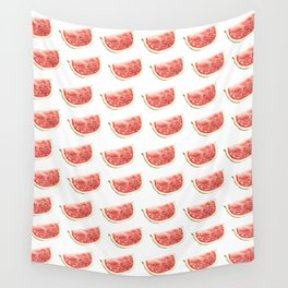 Watercolor Watermelon Slices Pattern Wall Tapestry