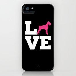 Giant Schnauzer Love iPhone Case