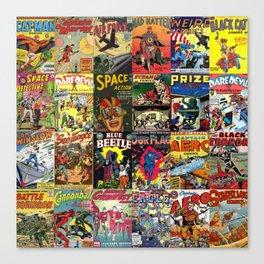 Comic Book Collage II Canvas Print