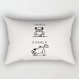 Inhale Exhale Pug Rectangular Pillow