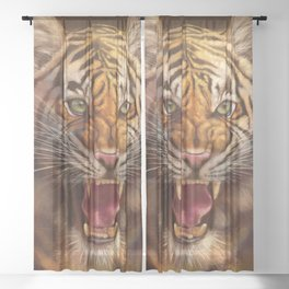 Roaring Tiger Sheer Curtain