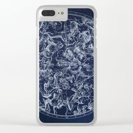 Vintage Constellations & Astrological Signs | White Clear iPhone Case