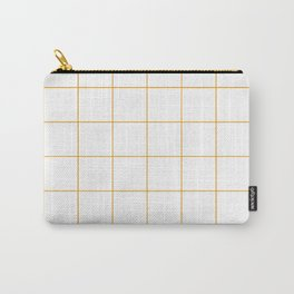 Graph Paper (Orange & White Pattern) Carry-All Pouch