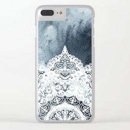 Dreamer Mandala Half Blue Clear iPhone Case
