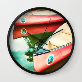 Lake Reflections Wall Clock