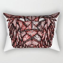 Lion Mask Rectangular Pillow
