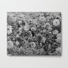The Garden (Black and White) Metal Print