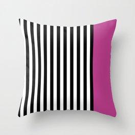 Liquorice allsorts, dark pink Throw Pillow