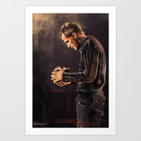hamlet Art Prints featuring Hamlet by Miki Price