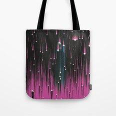 Pink Meteors Tote Bag