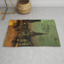 Classical Masterpiece 'Blackman Street, London' by John Atkinson Grimshaw Rug