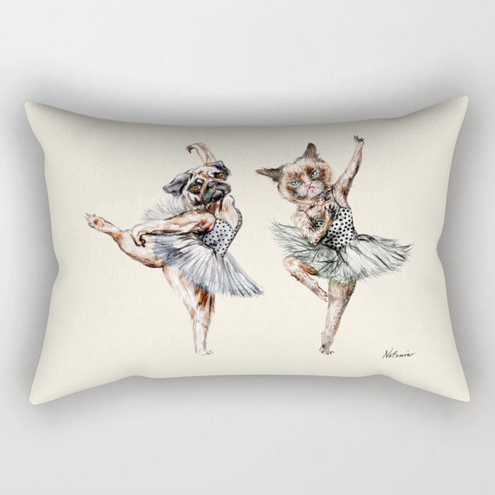 Hipster Ballerinas - Dog Cat Dancers Rectangular Pillow