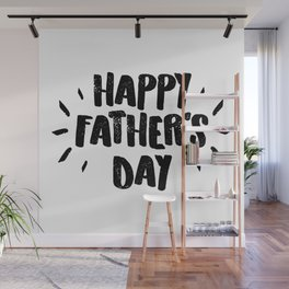 Happy Father's Day - Fun Bold Text Wall Mural