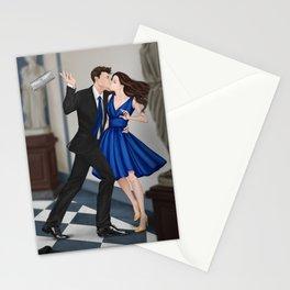 clandestine kiss Stationery Cards