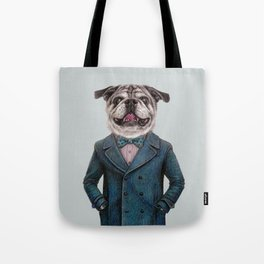 dog portrait Tote Bag