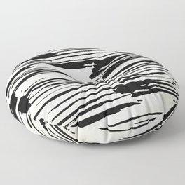 Rough Brush on Ivory Floor Pillow