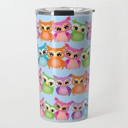 Colorful Owls Travel Mug