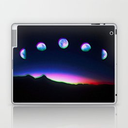 Trippy Moon Phases in the Night Sky Laptop & iPad Skin
