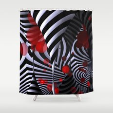 crazy geometry Shower Curtain