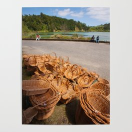Wicker baskets for sale Poster