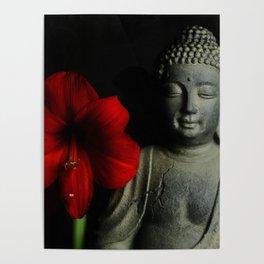 Amaryllis Buddha 2 Poster