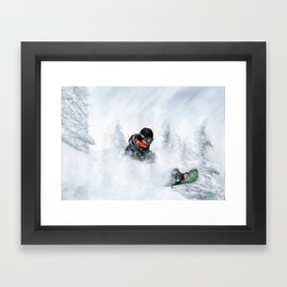 Travis Rice #2 Framed Art Print