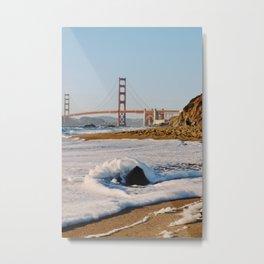 Golden Gate Baker Beach Metal Print