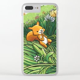 Roll on Flowers Clear iPhone Case