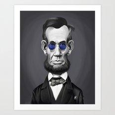 Abraham Lincoln (Steampunk) Art Print