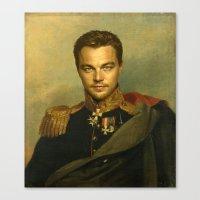 leonardo dicaprio Canvas Prints featuring Leonardo Dicaprio - replaceface by replaceface