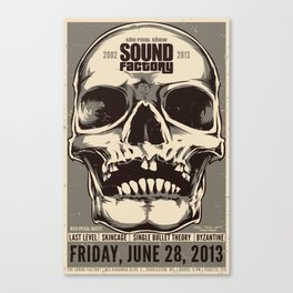 Sound Factory Final Show Poster Canvas Print