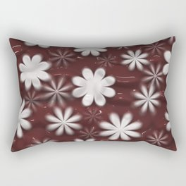 Melted Chocolate and Milk Flowers Pattern Rectangular Pillow