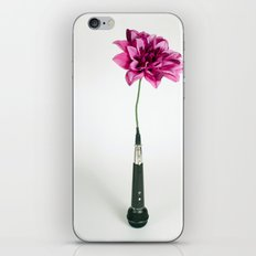 Microphone Vase iPhone & iPod Skin